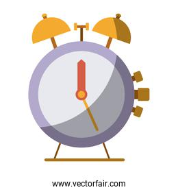 colorful silhouette of antique alarm clock without contour and shading