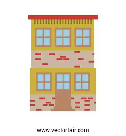 light color silhouette of house of two floors