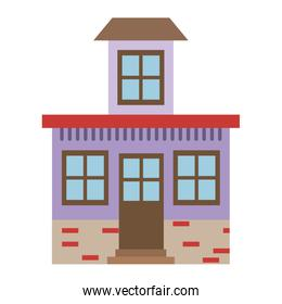 light color silhouette of house with small attic