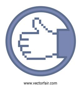 Illustration of hand with thumb up vector illustration