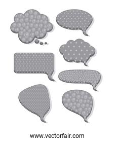 illustration of text balloons isolated on white
