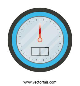 white background with color silhouette of water meter closeup