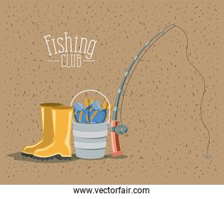 color background with sparkle of elements for fishing club