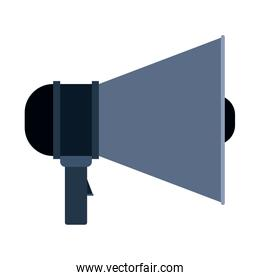 colorful silhouette of megaphone icon