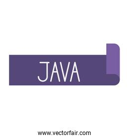 colorful silhouette of label text Java