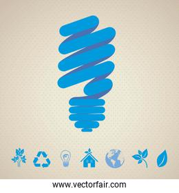 Recycle illustration of silhouettes isolated on dotte background