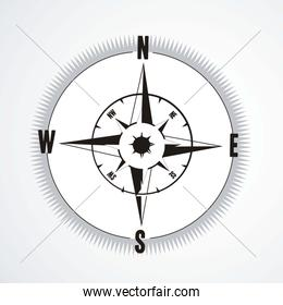 structure compass illustration isolated on white background vect