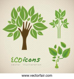Ecological illustrations of plants plant conceptual vector illus