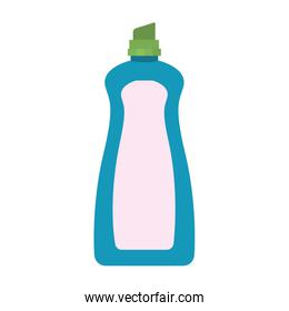 colorful silhouette of cloth softener bottle