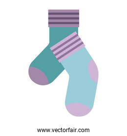 colorful silhouette of pair of socks
