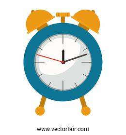 alarm clock in colorful silhouette on white background