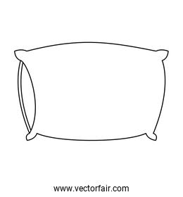 bed pillow sketch silhouette on white background