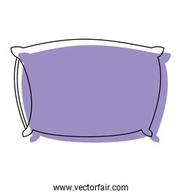 bed pillow purple watercolor silhouette on white background