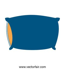 bed pillow color section silhouette on white background