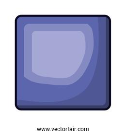 square emblem in purple color with brightness