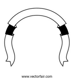 ribbon decorative black silhouette dotted in shape of arch