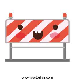traffic barrier flat icon colorful kawaii silhouette