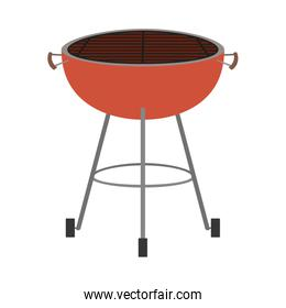 bbq grill front view colorful silhouette