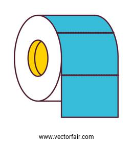 toilet paper roll in color sections silhouette