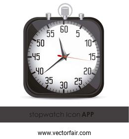 illustration of the application icon timed vector illustration