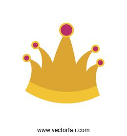 king crown in colorful silhouette