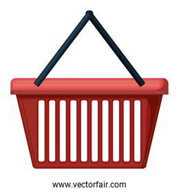 shopping basket colorful silhouette on white background