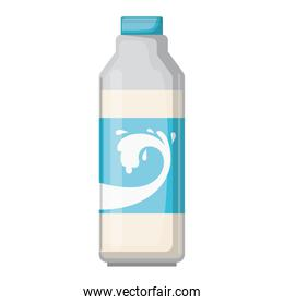 milk bottle colorful silhouette on white background