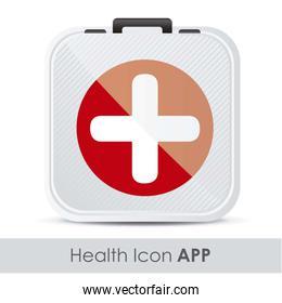 illustration of icon for application of medicine with firts aid