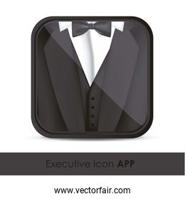 illustration of icon for application of executives with formal a