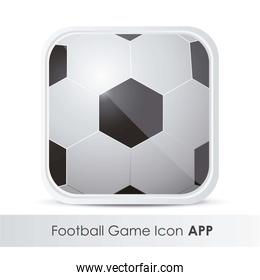illustration of icon for application of sports with soccer ball