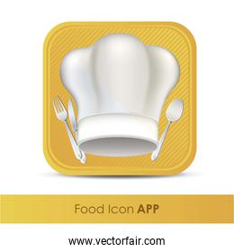 illustration of icon for application of food or restaurant with