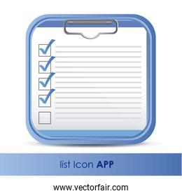 illustration of icon for application of questions or data vector