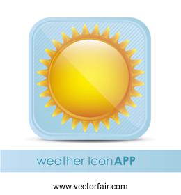 illustration of icon for application of meteorology vector illus