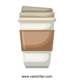 disposable cup colorful silhouette in white background