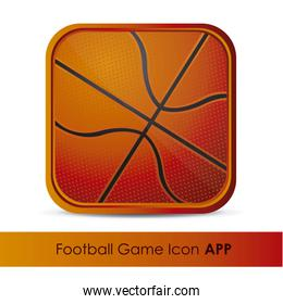 illustration of icon for application of sports or games with bas