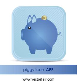 illustration of icon for application of savings accounts with pi