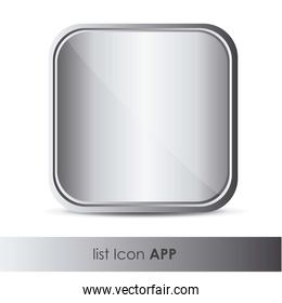 illustration of icon for application with metal texture vector i