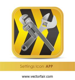 illustration of icon for setup application or tools vector illus