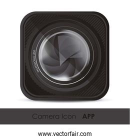 illustration of icon for application from photographs or camera