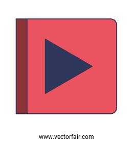 play button icon in colorful silhouette