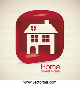 home icon silhouette on beige background