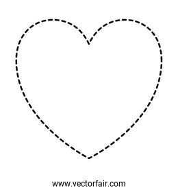 heart icon in black dotted silhouette