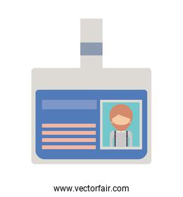 identification card with half body man picture and faceless with short hair and beard in colorful silhouette