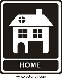 Illustration of home icons house silhouettes on white background