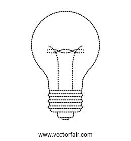 light bulb icon in black dotted contour