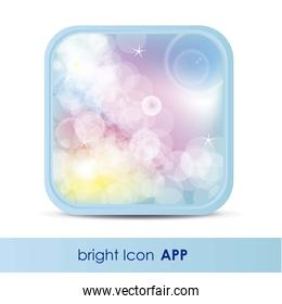 illustration of icon for application of  weather with lights and