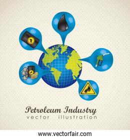 illustration of icons on the  petroleum industry vector illustra