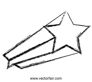 Shooting Star isolated icon