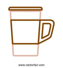 delicious coffee drink in plastic container