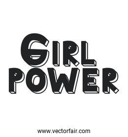 power girl calligraphy message